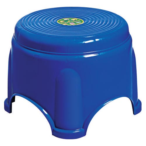 Tanay Plastic Blue Fancy Stool