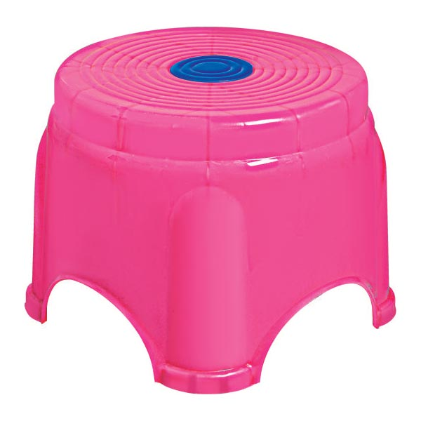 Tanay  Plastic Pink Fancy Stool