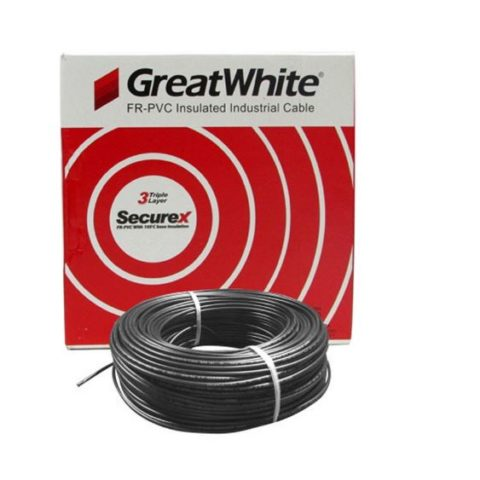 Great White 1.5 SQ MM Black Triple Layer PVC Insulated Wire