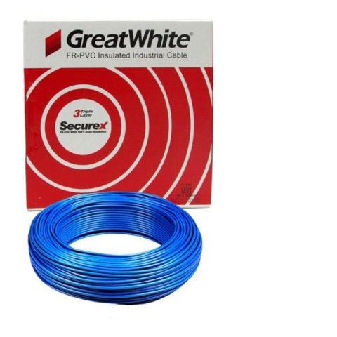 Great White 1.5 SQ MM Blue Triple Layer PVC Insulated Wire