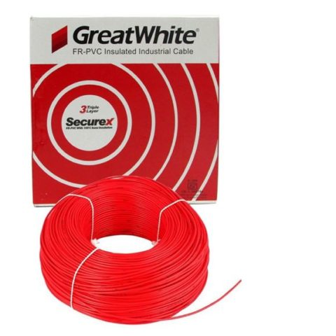 Great White 4.0 SQ MM Red Triple Layer PVC Insulated Wire