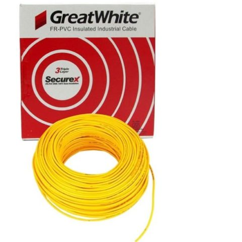 Great White 4.0 SQ MM Yellow Triple Layer PVC Insulated Wire