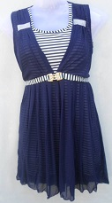Blue Party Wear Stylish Top With Belt