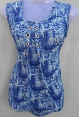 Blue Pretty Look Stylish Top