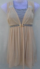 Cream Color Party Wear Stylish Top With Belt