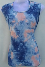 Dark Blue & Dark Orange Printed Top