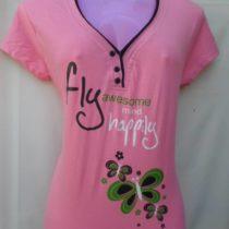 Light Pink Printed Cotton Top