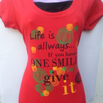 Red Printed Cotton Top