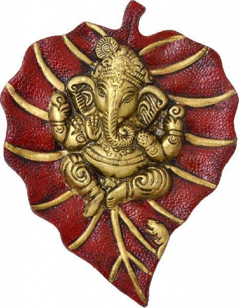 Brass Ganesha Wall Hanging