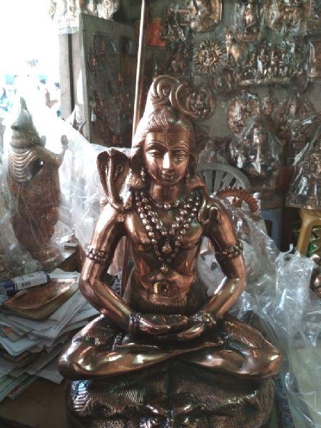 Copper Shiva Statue