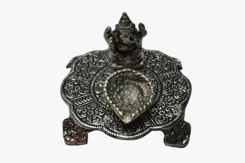Oxidised Ganesh Chowki With Diya