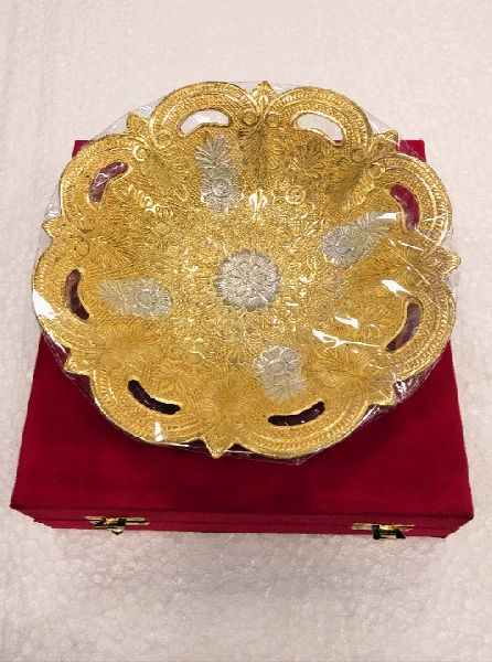 Silver and Gold Plated Brass Bowl