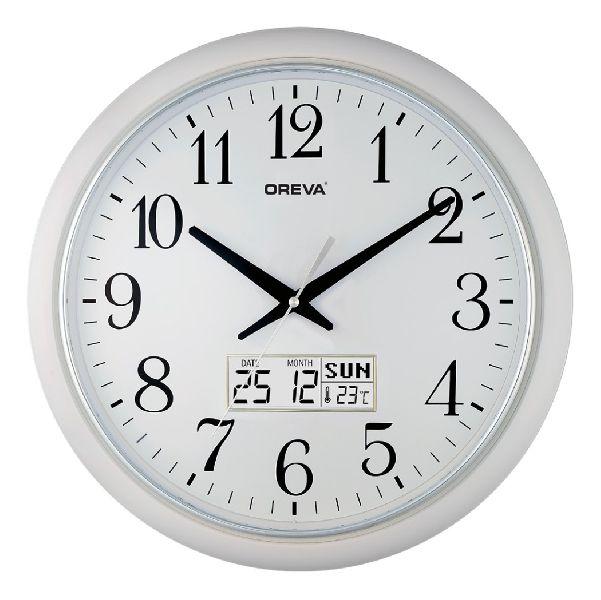 AQ 5457 SS LCD Premium Analog Clock
