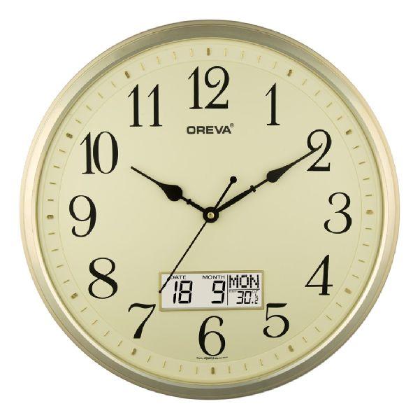 AQ 5467 SS LCD Premium Analog Clock