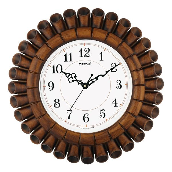 AQ 5777 SS Fancy Analog Clock