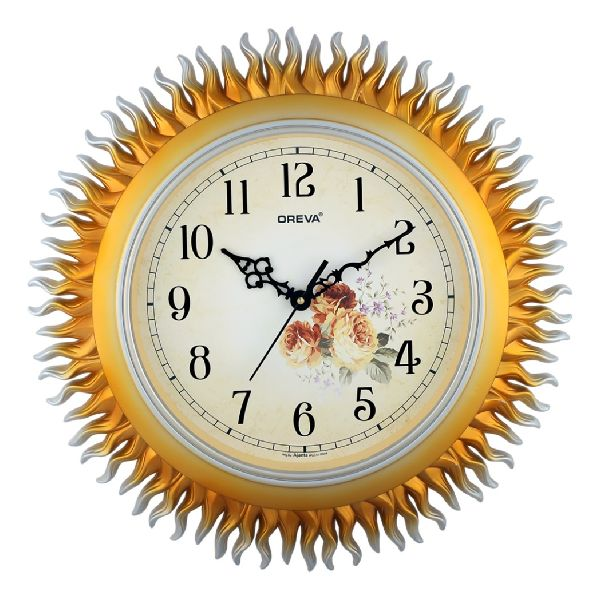 AQ 5887 SS Fancy Analog Clock