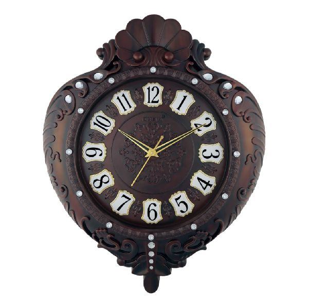 AQ 5907 SS Fancy Analog Clock