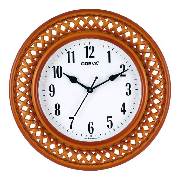 AQ 5977 SS Fancy Analog Clock