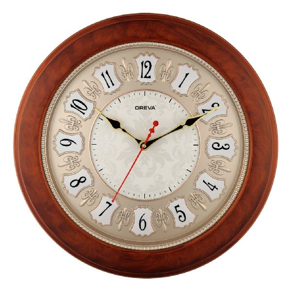 AQ 6037 SS Fancy Analog Clock