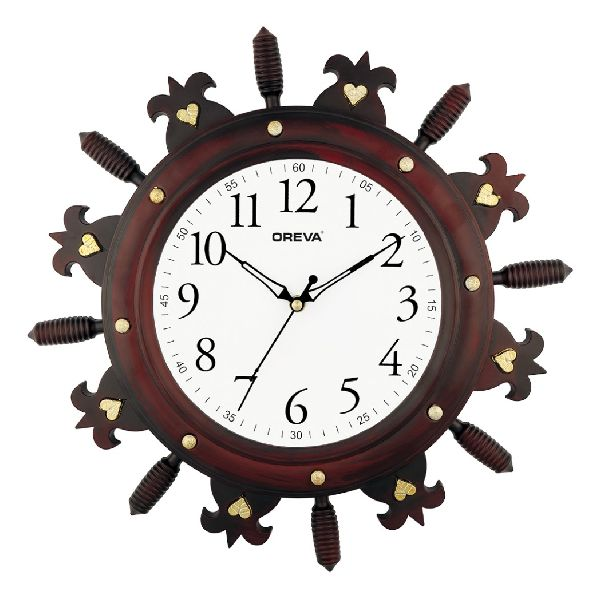 AQ 6277 SS Fancy Analog Clock