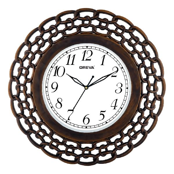 AQ 6437 SS Fancy Analog Clock