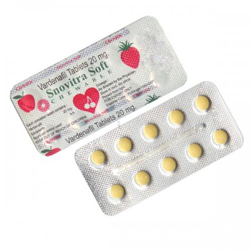Snovitra Soft Chewable Tablets (Vardenafil 20mg)