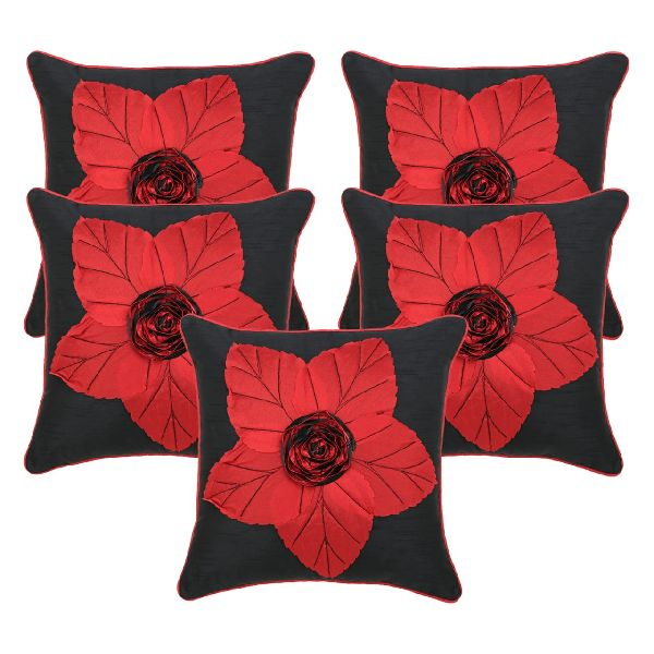 Silk Flower Digital Print Cushion Cover