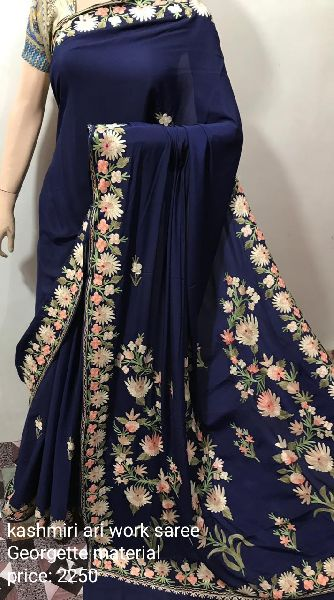 Kashmiri Ari Work Saree