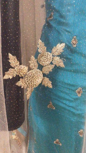Ladies Blue Handwork Salwar Suit