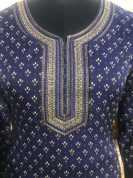 Ladies Blue Salwar Suit (D. No. 2416)