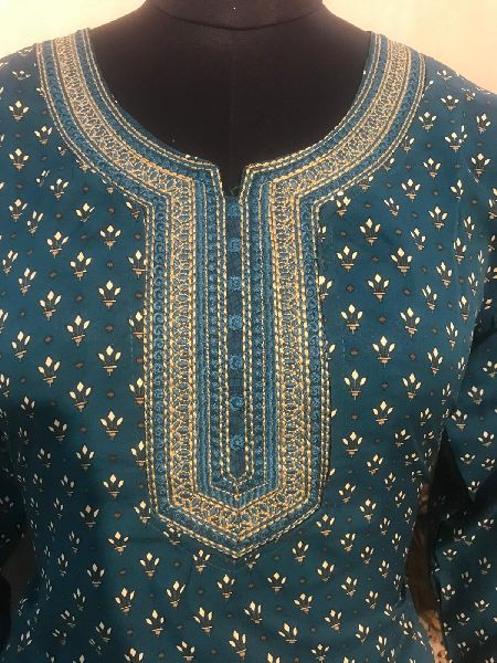 Ladies Green Salwar Suit (D. No. 2416)