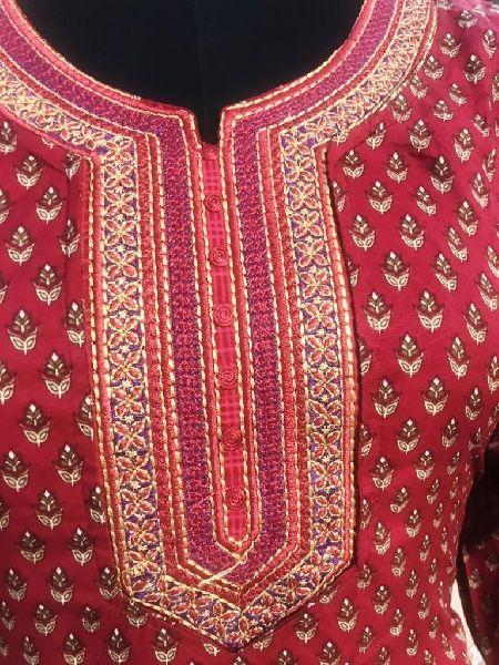 Ladies Red Salwar Suit (D. No. 2416)