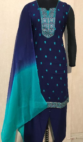 Ladies Black Salwar Suit (D. No. 2417)