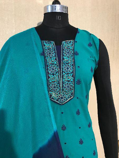 Ladies Blue Salwar Suit (D. No. 2417)