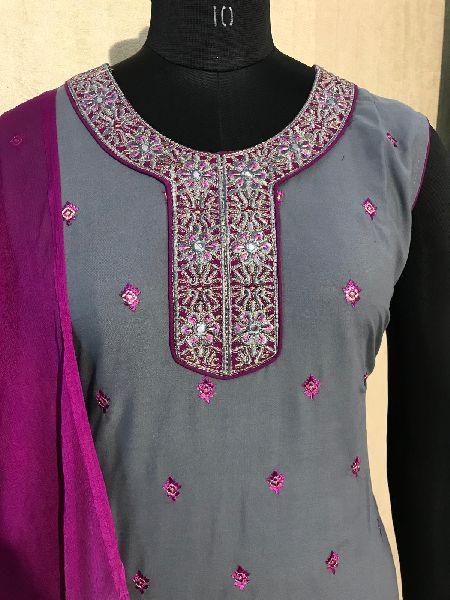 Ladies Grey Salwar Suit (D. No. 2417)