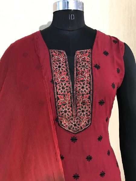 Ladies Red Salwar Suit (D. No. 2417)