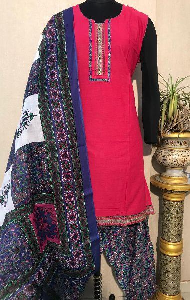 Ladies Red Salwar Suit (D. No. 2418)