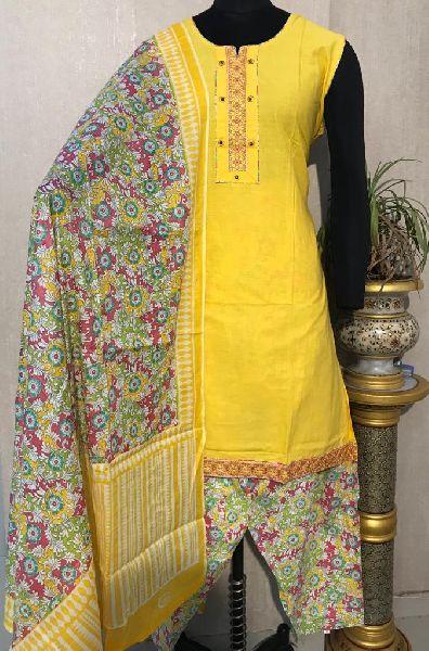 Ladies Yellow Salwar Suit (D. No. 2418)