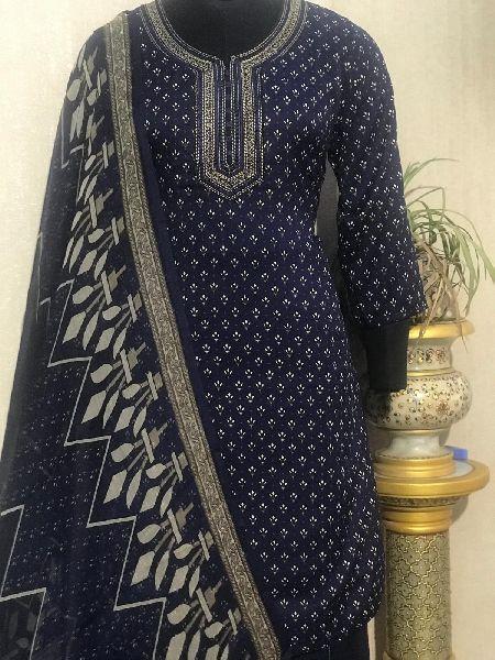 Ladies Black Salwar Suit (D. No. 2416)