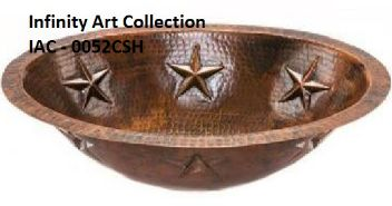 IAC–0052CSH Single Wall Hammered Copper sink