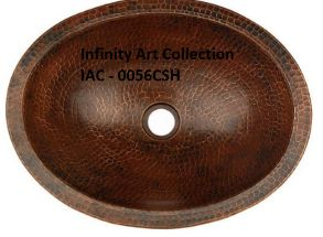 IAC–0057CSH Single Wall Hammered Copper Sink