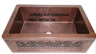 IAC–0058CSH  Double Wall Hammered Copper Sink