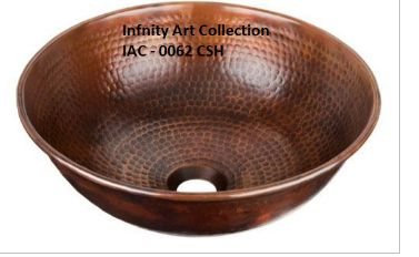 IAC–0062CSH Single Wall Hammered Copper Sink