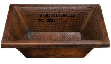 IAC–0063CSH Single Wall Hammered Copper Sink