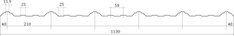 Trapezoidal Wave Profile Drawing