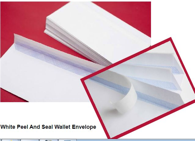 White Peel and Seal Wallet Envelope