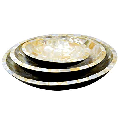 Mother of Pearl Serving Bowl