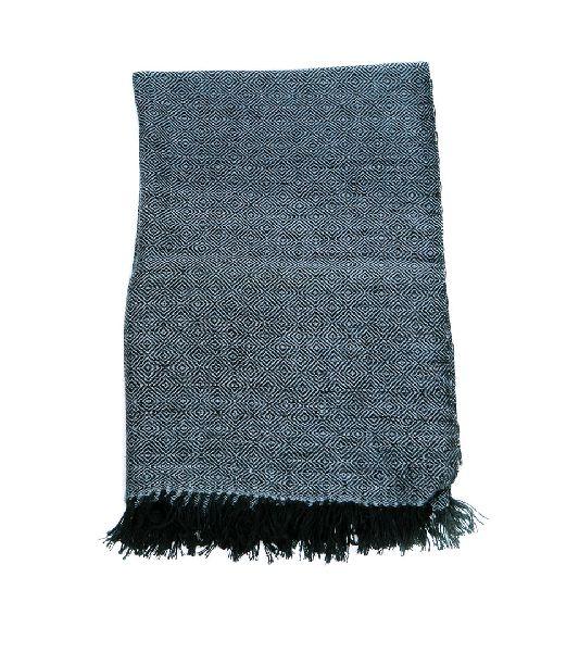 Black & Blue Grey Pashmina Stole