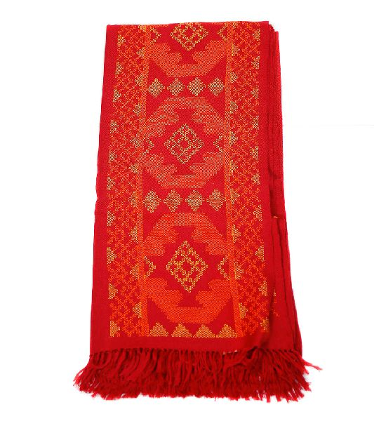 Red Lambswool Shawl