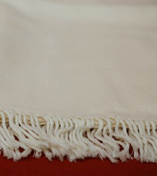 Off White Lambswool Shawl